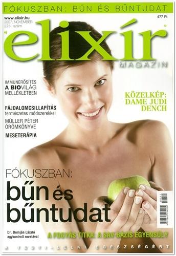 Elixír Magazin novemberi pH csoda cikk címlap