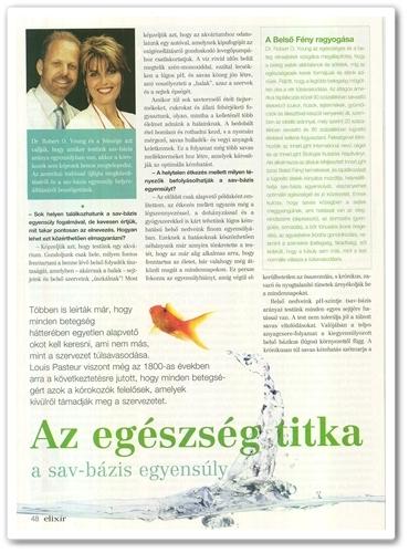 Elixír Magazin pH Csoda cikk 48. oldal