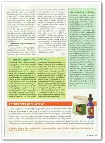 Elixír Magazin pH Csoda cikk 49. oldal